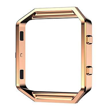 Schwarz / Rose / Gold / Silber Edelstahl / Metall Replace Metal Frame Gliederarmband Für Fitbit Uhr 23mm