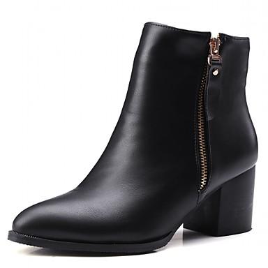 Damen Schuhe Kunststoff Winter Herbst Cowboystiefel / Westernstiefel Springerstiefel High Heels Walking Blockabsatz Block Ferse