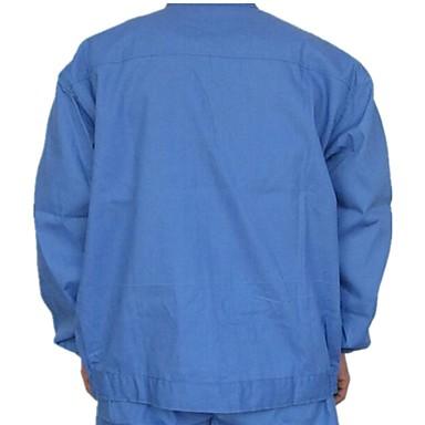 fødevareforarbejdning sundhedsydelser for mænd og kvinder i blå jakkesæt og rent tøj langærmede kitler food service