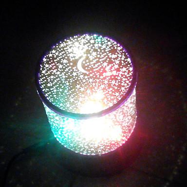 1pc ledede usb tilfældig farve mønster lampe indenlandske projektor lamper strålende tegneserie nat-lys