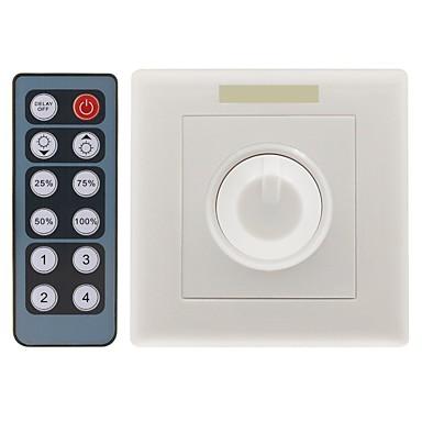 12-Key IR Romote Triac Dimmer 12V Knob PWM 0-10V Triac LED Dimmer Switch  for Dimmable Bulb (DC12V 8A)