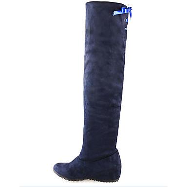 Mulheres Sapatos Courino Outono / Inverno Botas de Neve Botas Caminhada Salto Plataforma Cadarço Preto / Vermelho / Azul