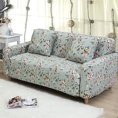 Moderno Poliéster Cobertor de Sofá, Fácil de Instalar Floral Impreso Fundas