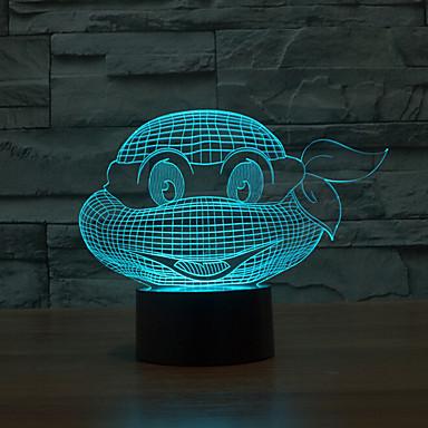 kestää jumala kilpikonna touch himmennys 3d led yövalo 7colorful sisustus tunnelmaa lamppu uutuus valaistus