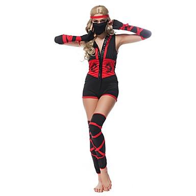 Zentai Dragt Soldat/Kriger Ninja Film Cosplay Trikot/Heldragtskostumer Handsker Maske Halloween Jul Nytår Kvindelig