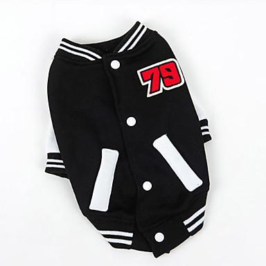 Kissa Lemmikit Koira College Urheilutyyli Baseball Koiran vaatteet Hengitettävyys Tyylikäs Urheilu Muoti Color Block Musta Punainen