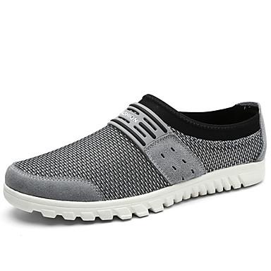 Homens sapatos Tule Verão Solados com Luzes Mocassins e Slip-Ons para Casual Preto Cinzento Marron