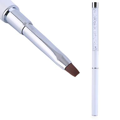 1pc Nagelkunst Pflege Werkzeuge Kristall Gel Stift Bürstengriff Nagelkunstwerkzeug-Stift Anti-Rutsch-Griff, weiches Haar