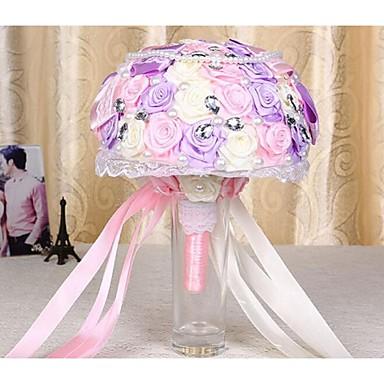 Bouquets de Noiva Redondo Rosas Buquês Casamento Cetim 9.45