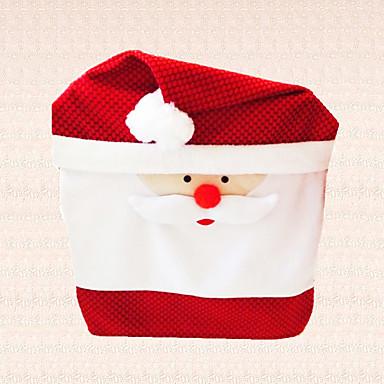 1pc nytår julen santa claus hætte stol cover dekoration hjem middag gave