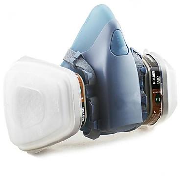 máscara de gás máscaras respiratórias pintado sete silicone confortável