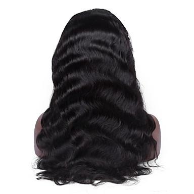 Ekte hår Helblonde Parykk Krop Bølge 120% tetthet 100 % håndknyttet Afroamerikansk parykk Naturlig hårlinje Kort Medium Lang Dame