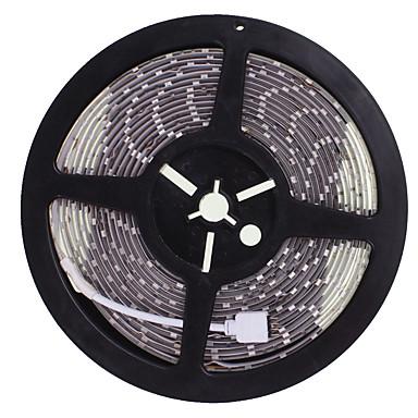 SENCART 5m Flexible LED-Leuchtstreifen 300 LEDs 5630 SMD Warmes Weiß / RGB / Weiß Schneidbar / Wasserfest / Verbindbar 12 V / IP68 / Für Fahrzeuge geeignet / Selbstklebend
