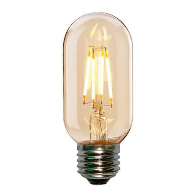 HRY 1pc 4W 360lm E26 / E27 Bombillas de Filamento LED T45 4 Cuentas LED COB Decorativa Blanco Cálido Blanco Fresco 220-240V