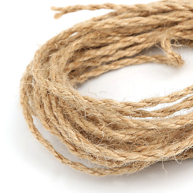 beadia 2mm naturlig hamp jute snor for DIY smykker håndværk making (5mts)