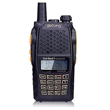 pofung UV-6puls Rádio de Comunicação 8W Not Mentioned 136 - 174 MHz / 400-520MHz Not Mentioned 3 - 5 km Função de Poupança de EnergiaNot