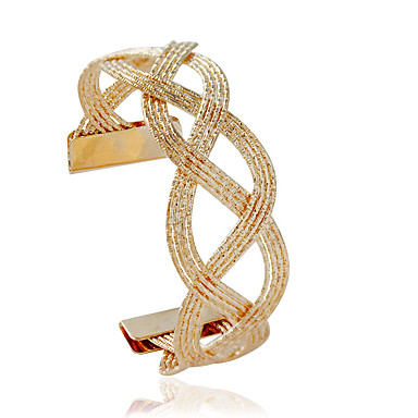 Dames Cuff armbanden Modieus Legering Buisvorm Zilver Gouden Sieraden Voor 1 stuks