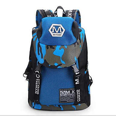 Herren Taschen Leinwand Rucksack für Normal Gelb Rot Blau