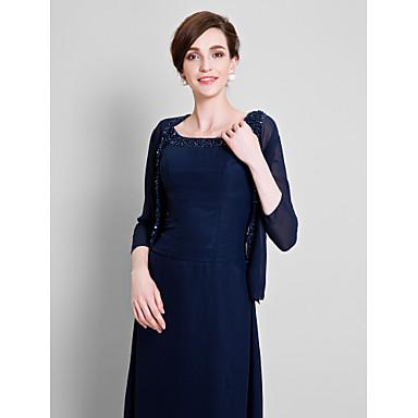 Chiffon Bryllup / Fest & Aften Sjal til kvinner Med Perlearbeid Frakker / jakker