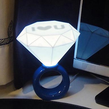 1pc ledede usb originalitet boligindretningsprodukter diamant natlys