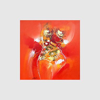 Håndmalte Abstrakt / Mennesker / Nøgen olje malerier,Moderne Et Panel Lerret Hang malte oljemaleri For Hjem Dekor