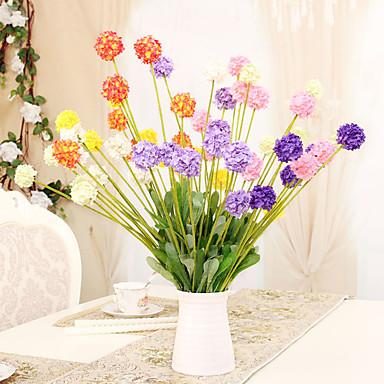 1 1 Ast Polyester / Kunststoff Hortensie Tisch-Blumen Künstliche Blumen 19.6*1.57inch/50*4cm
