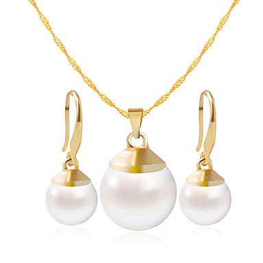 Mulheres Conjunto de jóias - Incluir Colar / Pulseira Dourado / Branco Para Casamento / Festa / Diário / Casual