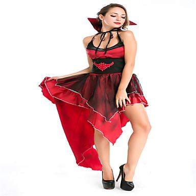 Fantasias de Cosplay Festa a Fantasia Mago/Bruxa Festival/Celebração Trajes da Noite das Bruxas Cor Única Saia Dia Das Bruxas Feminino