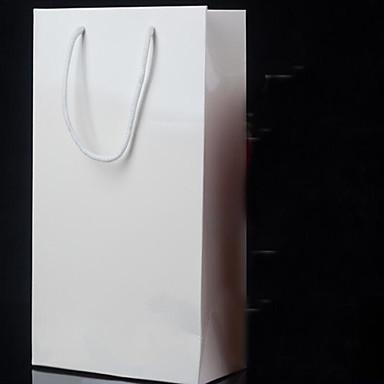 spot tukku custom paperikassit paperipussit pukupussit lahja laukku ostoskassit valkoista pahvi viiden pakkaus