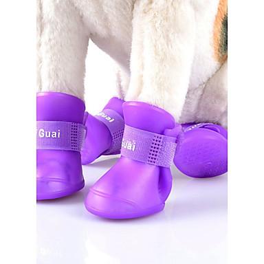 Katze Hund Regenmantel Schuhe und Stiefel Lässig/Alltäglich Cosplay Wasserdicht Sport Solide Buchstabe & Nummer Rot Blau Rosa Grün Orange