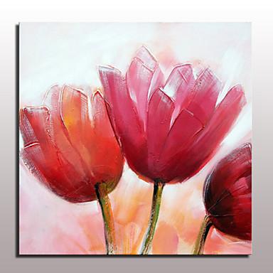 handgemalte Blumen-Ölgemälde auf Leinwand Wandkunst Bilder für Hauptdekor mit gestreckten Rahmen fertig zum Aufhängen