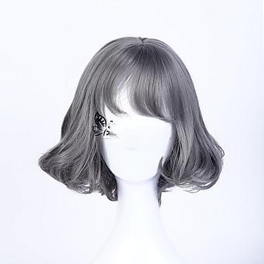 povoljno Perike i ekstenzije-Sintetičke perike Wavy Stil Capless Perika # 171 Sintentička kosa Siva Perika