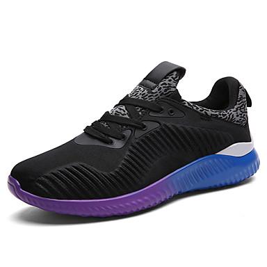 Herre-Tyll-Flat hæl-Komfort-Treningssko-Friluft Fritid Sport-Svart Blå Grå
