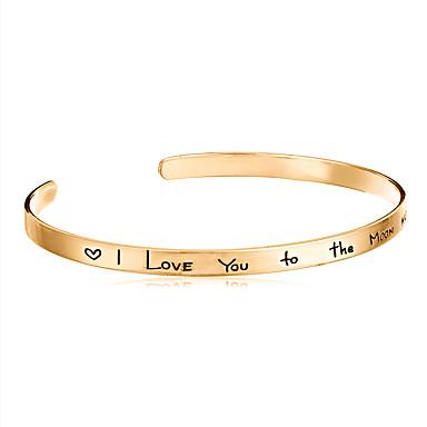 Herre Dame Armringer Mansjettarmbånd - Kjærlighed Åpne Holdbar Smykker LOVE Sølv Gylden Rose Gull Armbånd Til Bryllup Fest Gave