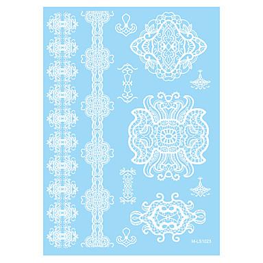 1 Tatoveringsklistermærker Blomster Serier Non Toxic / Mønster / Waterproof / henna / BryllupDame / Voksen Flash tatoveringMidlertidige