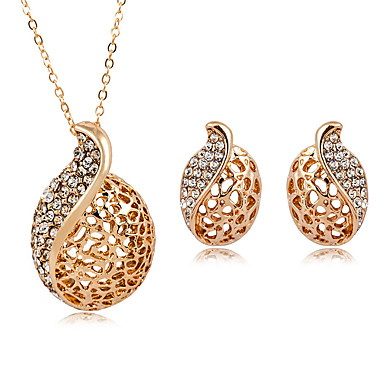 Schmuck Halsketten / Ohrringe Halskette / Ohrringe Modisch Hochzeit / Party / Alltag / Normal 1 Set Damen Goldfarben / Silber