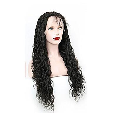 Aidot hiukset Lace Front Peruukki Vesiaalto 130% Tiheys 100% käsinsidottu Afro-amerikkalainen peruukki Luonnollinen hiusviiva Lyhyt