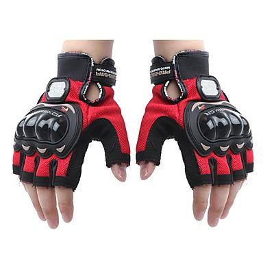 mesh skinn racing hansker halv finger motorsykkel motorsykkel (1 par)