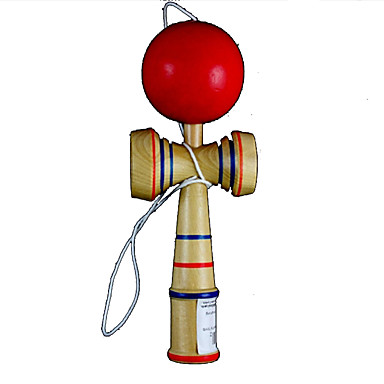 Klasik tat Bilboquet puzzle oyunu oyuncak - ahşap + kırmızı