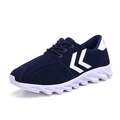 Sneakers-PU-Komfort-Herre-Sort Blå-Sport Fritid-Flad hæl