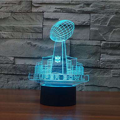 super bowl touch dimmen 3d led nachtlicht 7 farbenfroh dekoration atmosphäre lampe neuheit beleuchtung licht
