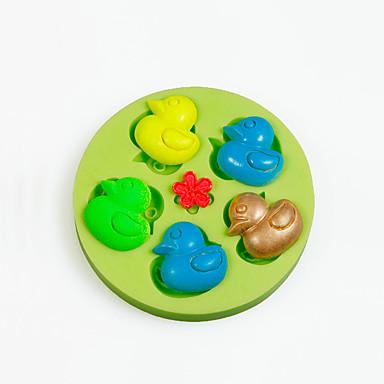 mini gummi duck silikone skimmelsvamp til chokolade slik gør kage dekorationer farve tilfældigt