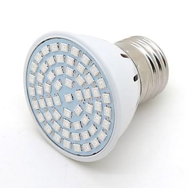 2 W 200 lm E26 / E27 LED-drivhuslamper G50 60 LED perler SMD 2835 Dekorativ Blå 220-240 V / 1 stk.