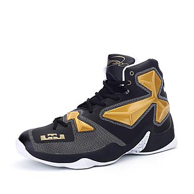 Homens sapatos Materiais Customizados / Microfibra Primavera / Outono Conforto Tênis Basquete Preto e Dourado / Vermelho / Preto /