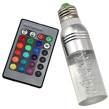 1pç 3 W 180 lm B22 / E26 / E27 Lâmpada de LED Inteligente T 1 Contas LED LED de Alta Potência Controle Remoto / Decorativa / Cores Gradiente RGB 85-265 V / 1 pç / RoHs
