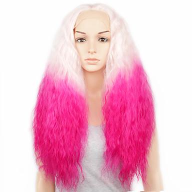 Synthetische Perücken Locken Spitzenfront Spitze-Perücke Synthetische Haare