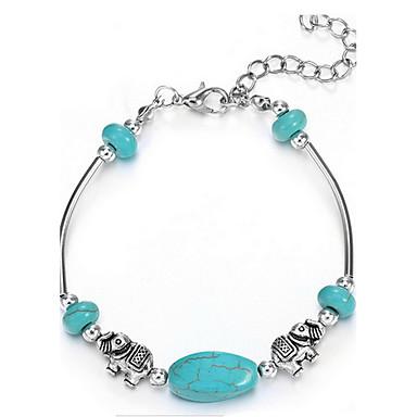 Dames Armbanden met ketting en sluiting Aanbiddelijk Turkoois Legering Dierenvorm Sieraden Voor