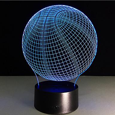 Basketball Touch Dimmen 3d führte Nachtlicht 7colorful Dekoration Atmosphäre Lampe Neuheit Beleuchtung Licht