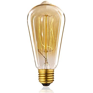 ST64 60W vintage antikke edison stil glødende klart glas lys pære (AC220-240V)
