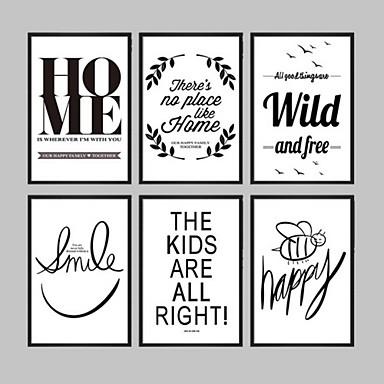 toile encadr e set de cadres abstrait mots citations art mural pvc mat riel avec cadre. Black Bedroom Furniture Sets. Home Design Ideas